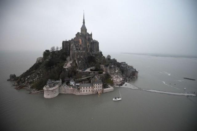 FRANCE-TOURISM-HERITAGE-HIGH-TIDE